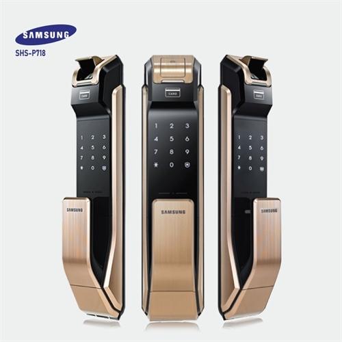 Khóa vân tay Samsung SHS-P 718 Gold