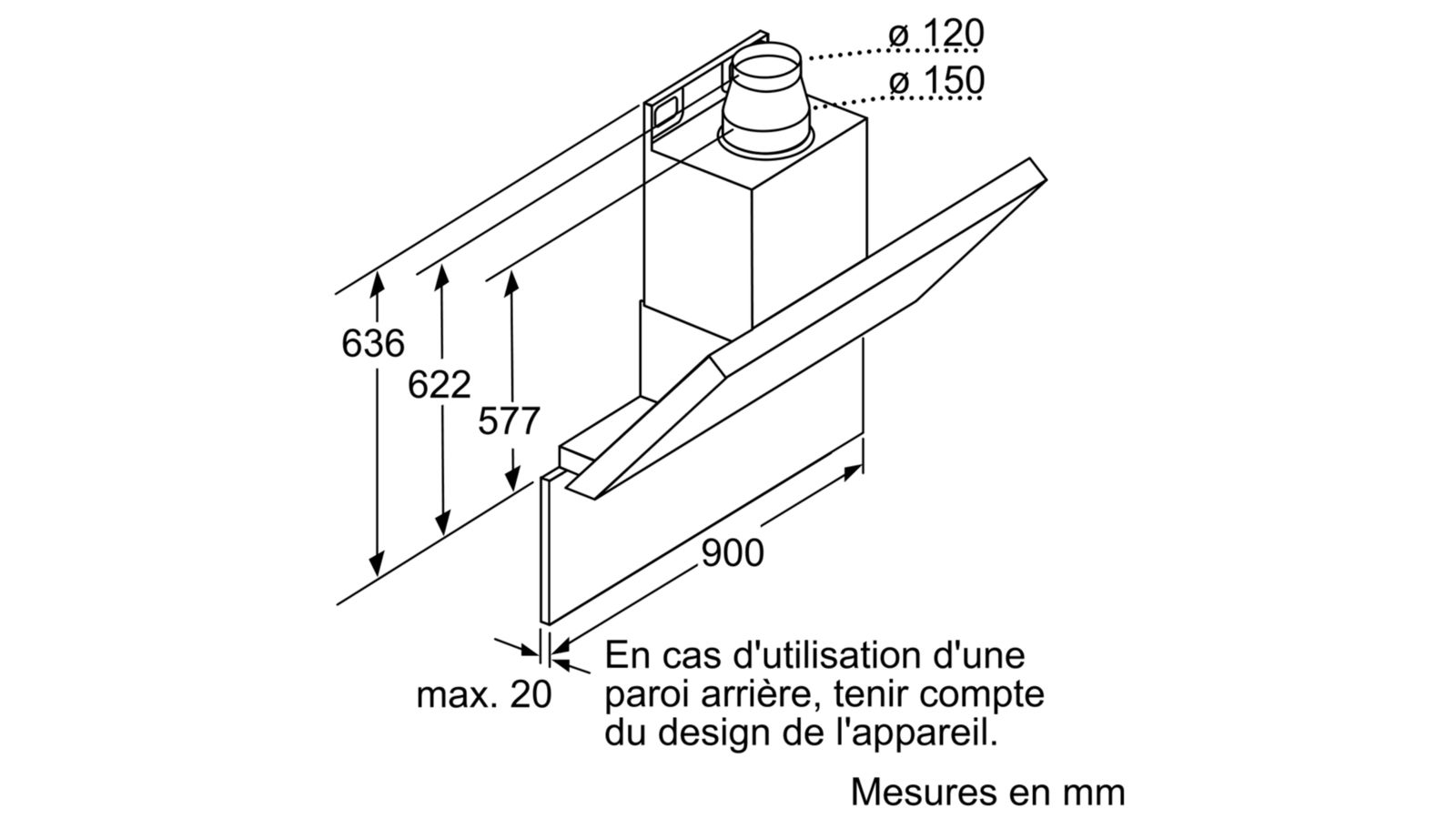 Máy hút mùi ống khói Bosch DWK09E650