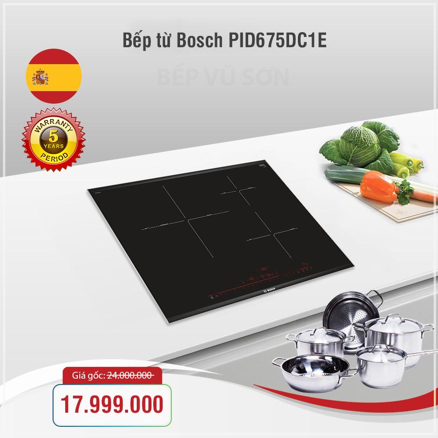 Bếp từ Bosch PID675DC1E series 8 chính hãng giá tốt 2018