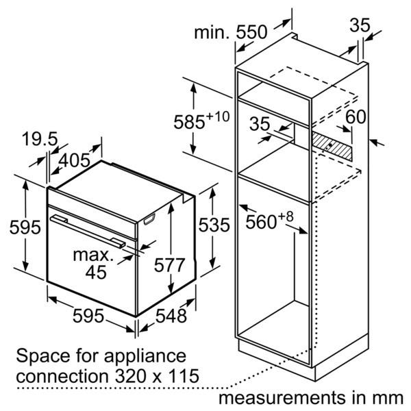 Lò nướng Bosch HMH.HBN331E4J